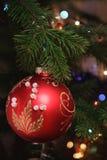 圣诞节树装饰 免版税图库摄影