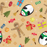 圣诞节样式背景 免版税库存图片