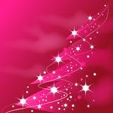 圣诞节桃红色发光的结构树 库存例证