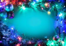 圣诞节框架。 库存照片