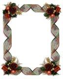 圣诞节框架丝带 免版税库存照片