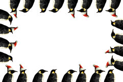 圣诞节框架企鹅 库存图片