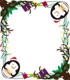 圣诞节框架动物  图库摄影