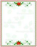 圣诞节框架数据条 免版税库存图片