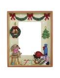 圣诞节框架照片 免版税库存图片