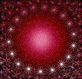 圣诞节框架玫瑰色来回雪 免版税库存照片