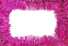 圣诞节框架紫色 库存照片