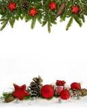 圣诞节框架红色担任主角四分之五 库存图片