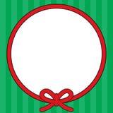圣诞节框架绳索花圈 库存照片