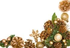 圣诞节框架花圈 免版税库存图片