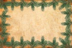 圣诞节框架葡萄酒 库存照片