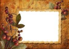 圣诞节框架葡萄酒 库存图片