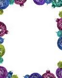 圣诞节框架装饰品 免版税图库摄影