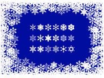 圣诞节框架雪花 向量例证