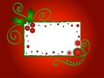 圣诞节框架霍莉 图库摄影