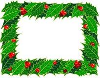 圣诞节框架霍莉 免版税库存照片