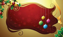 圣诞节框架霍莉 库存照片