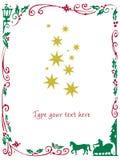 圣诞节框架 免版税图库摄影