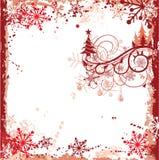 圣诞节框架grunge向量 免版税库存图片