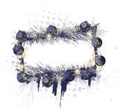 圣诞节框架grunge紫色 免版税图库摄影