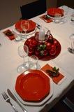 圣诞节桌在意大利 图库摄影