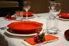 圣诞节桌在意大利 免版税库存照片