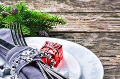 圣诞节桌设置 库存照片