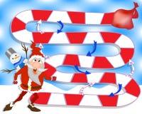 圣诞节棋 克劳斯礼品圣诞老人 家庭的比赛 向量例证