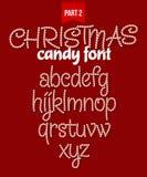 圣诞节棒棒糖字母表 也corel凹道例证向量 免版税库存图片