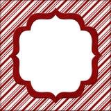 圣诞节棒棒糖镶边背景 免版税库存图片