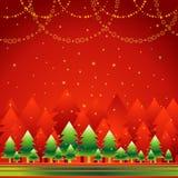 圣诞节森林向量 免版税图库摄影