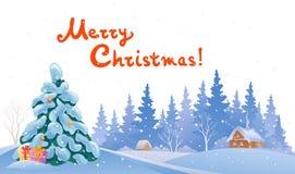 圣诞节森林 免版税库存照片
