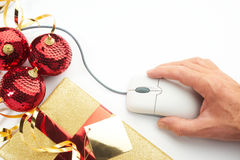 圣诞节概念互联网在线购物 免版税图库摄影