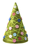 圣诞节概念新的结构树纱线年 免版税库存图片