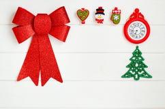 圣诞节概念的图片在白色背景的 2009前夕新年度 库存照片