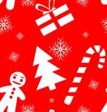 圣诞节模式无缝的向量 免版税库存图片