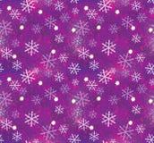 圣诞节模式无缝的雪花 库存图片