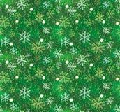 圣诞节模式无缝的雪花 库存照片