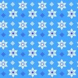 圣诞节模式无缝的雪花 免版税库存图片