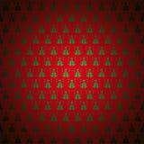 圣诞节模式红色无缝的sno结构树 库存照片