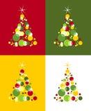 圣诞节模式结构树 免版税库存图片