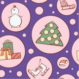 圣诞节模式 免版税库存照片