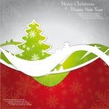 圣诞节模板贺卡的框架设计 库存图片