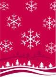 圣诞节横向冬天 库存例证