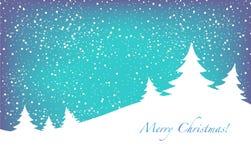 圣诞节横向结构树 图库摄影