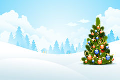 圣诞节横向魔术晚上 免版税库存图片