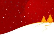 圣诞节横向 向量例证