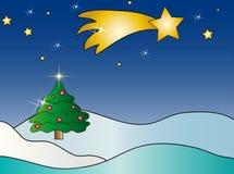 圣诞节横向 免版税图库摄影