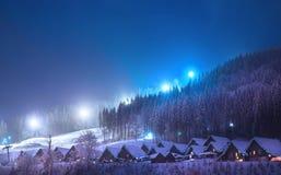 圣诞节横向noel结构树冬天 免版税图库摄影