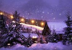圣诞节横向noel结构树冬天 库存照片
